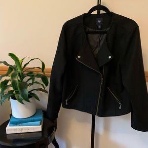 Gap black zippered moto jacket